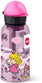 Emsa 518122 - Botella hermética con diseño de Princesas, Capacidad de 0.4 l, antiderrame con Piezas fáciles de Limpiar, Ligeras y fáciles de manipular para niños