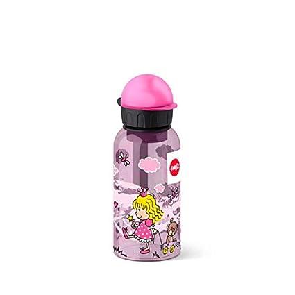 Emsa 518122 - Botella hermética con diseño de Princesas, Capacidad de 0.4 l, antiderrame