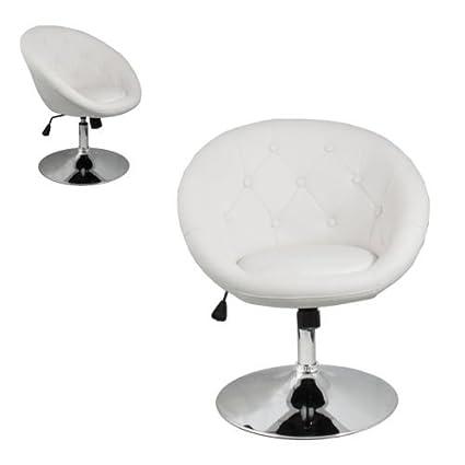 Terrific Amazon Com Furniture White Accent Chair Leather Round Back Uwap Interior Chair Design Uwaporg