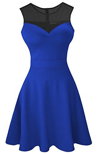 Цвет: королевский синий с черной сеткой