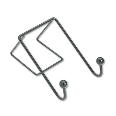 Fellowes Partition Additions Wire Double-Garment Hook, 4 X 6, Black (Coat Fellowes Additions Hook Partition)