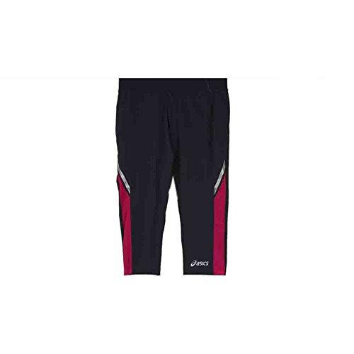 ASICS Women's 18-Inch PR Performance Run Capri, Steel/Magenta, - Workout Pants Asics
