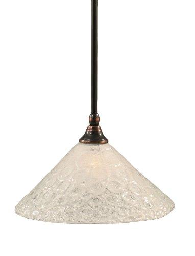 Toltec Lighting 23-BC-441 Stem Mini-Pendant Light Black Copper Finish with Italian Bubble Glass, ()