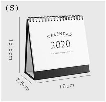 Tischkalender Kalendarien 1 PC-Kalender 2020 Nordic Ins Wind Schedule-Plan Diy Memo Kalender Studienkalender Agenda 2019-Planer-Organisator Netter Kalender (Color : S)