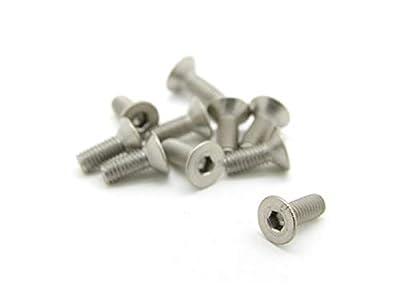 HomyDelight Titanium M3 x 8mm Countersunk Hex Screw (10pcs/Bag)