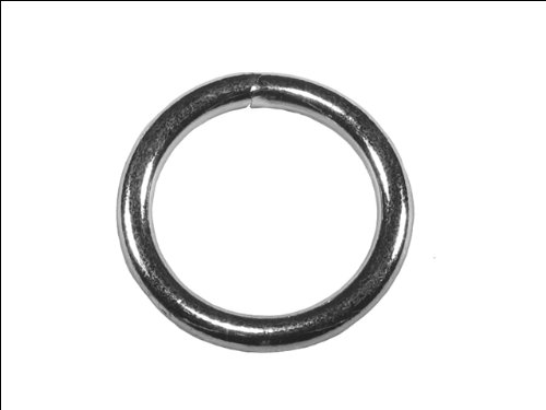 (Faithfull CHWR50 5mm Zinc Plated Welded Rings (Pack of 4))