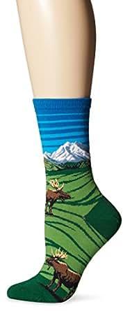 Hot Sox Moose Mountain Scene Sock