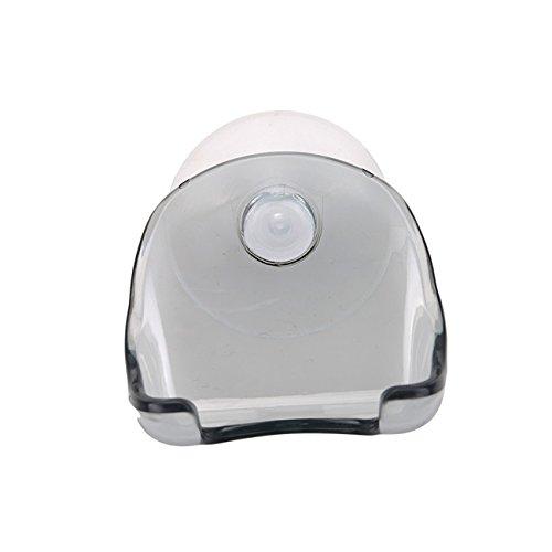 Dolland Clear Plastic Super Suction Cup Razor Holder Rack Bathroom Shaver Storage,Gray