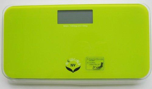 NewlineNY  SBB-0719M-NYLG Step-On Mini Travel Bathroom Scale, Modern Green by NewlineNY