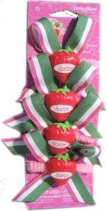 Strawberry Shortcake Pony Tail Holders 4ct