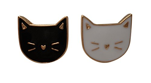 Cute Cat Enamel Lapel Pin Set ()