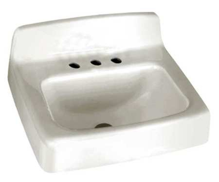 Bathroom Sink, Enameld Cast Iron, 18 In. - 18