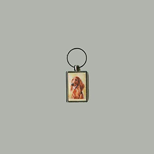 Irish Setter Head Study II Key Chain