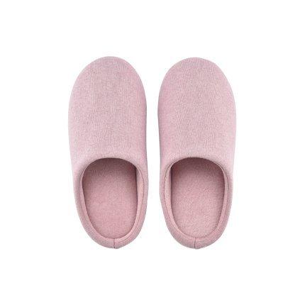 CWAIXXZZ pantofole morbide Così il colore solido di uomini e di donne in autunno e inverno home pantofole vigilia il cotone mute pavimenti in legno e confortevoli camere non-slip ,S 36-37, rosa