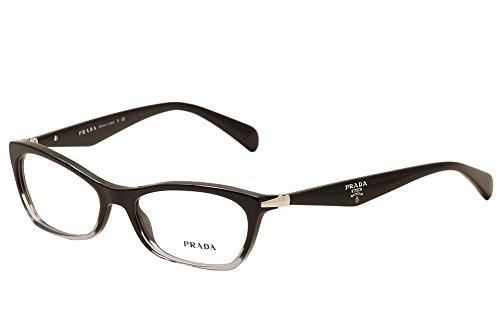 Prada PR15PV ZYY/1O1 Eyeglasses, Black Gradient Transparent, - Eyeglasses Eye Prada Cat