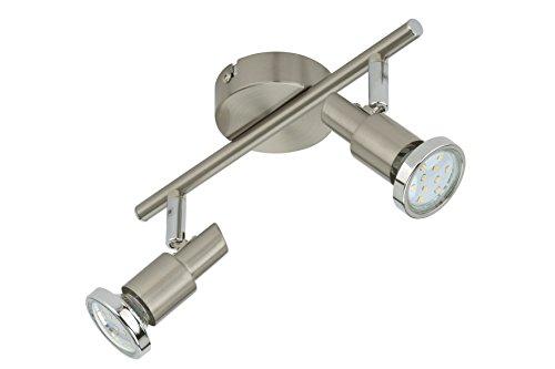 Briloner Leuchten LED Deckenstrahler, Deckenleuchte, Deckenlampe, Spots, Wohnzimmerlampe, Deckenspot, LED Strahler, Deckenbeleuchtung, Deckenlampe Wohnzimmer-Kinderzimmer-Schlafzimmer, LED Lampe, schwenkbar