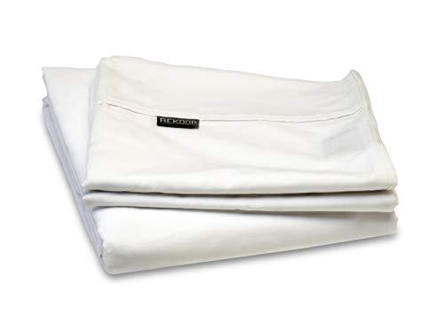 REKOOP Eco-Friendly Sheets, Cotton Rich, Smooth Percale Weave, 4 Piece Queen, 15