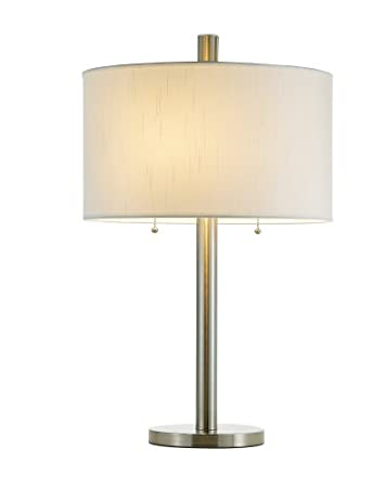 Adesso 4066 22 Boulevard 28u0026quot; Table Lamp, Satin Steel, Smart Outlet  Compatible