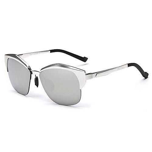 polarizado de Clásico Yxsd de Metal Mujeres Plata Aviador para Hombre Marco de Plata Conducción piloto con Gafas Calidad Protección SunglassesMAN Color de para Sol UV400 Primera La La qdt8IIwx