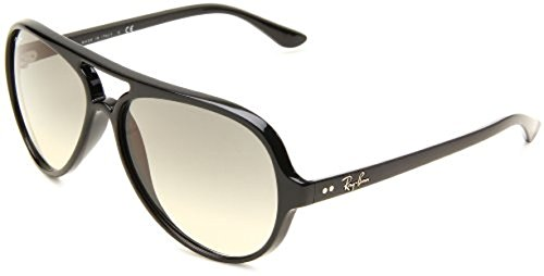 Ray-Ban Cats 5000 RB4125 Sunglasses Black / Crystal Grey Gradient 59mm & Cleaning Kit - Ban Ray 5000 Sunglasses Cats