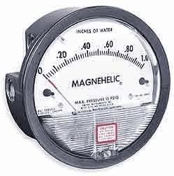 Dwyer 2002AV Magnehelic Differential Pressure Gauge, Type, 0 to 2