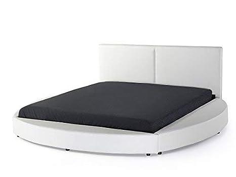 Letto Rotondo Bianco.Supply24 Designer Letto Rotondo Vera Pelle Letto Turno Letto