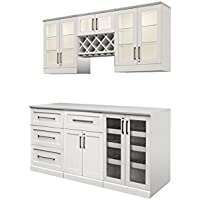 NewAge Products Shaker Style Bar Cabinets 7-Piece Set (Various Options)