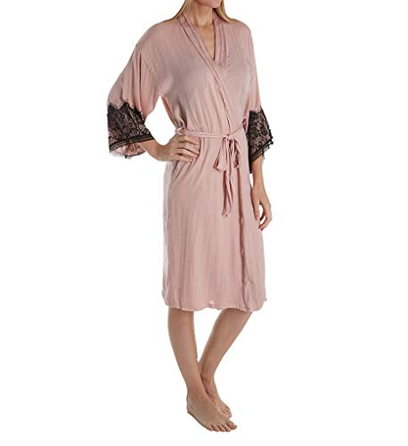 In Bloom by Jonquil Your Eyes Vintage Crinkle Satin Robe (YRY035) XS/S/Blush