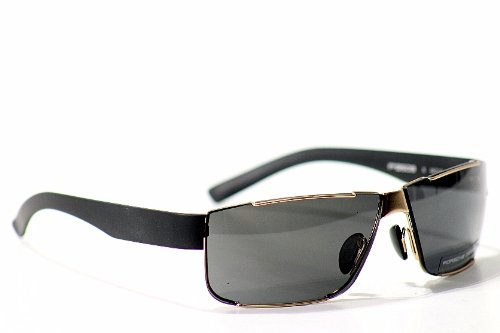 4084e61d2fe2 Amazon.com  Porsche Design Men s P 8509 P8509 B Matte Light Gold Blue Sport  Sunglasses 64MM  Clothing
