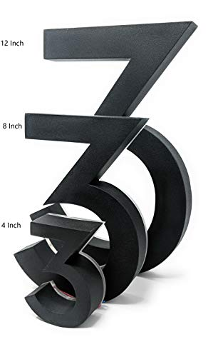 8 Inch Backlit LED House Numbers | Big, Modern Address Signs for Homes | Soft, Exterior Glow | Coated Stainless-Steel Black Finish | Weather Resistant, Durable, Wired | by JELSCO (6/9) by JELSCO (Image #4)