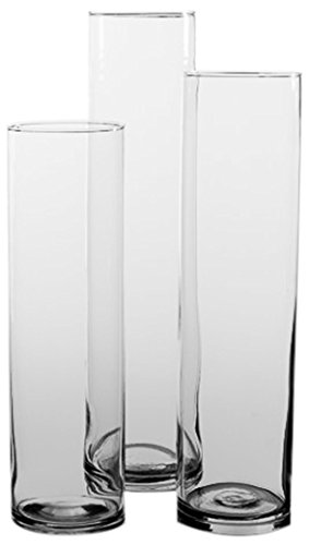 Amazon Eastland Tall Cylinder Vases Set Of 3 Home Kitchen