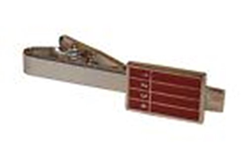 [Mondaily - Running Track Race Runner Tie Clip Silver Black Wedding Bar Clasp #PPTE5051] (Cats Musical Costume Rental)