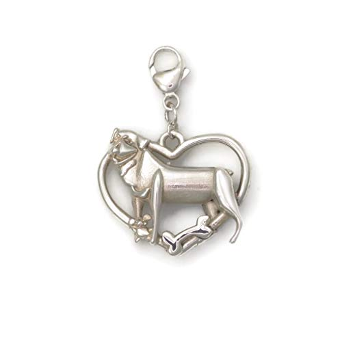Sterling Silver Rottweiler FOB, Silver Rottweiler Pendant by Donna Pizarro from her Animal Whimsey Collection of Rottweiler Jewelry