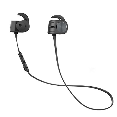 Plextone Wireless Headphones,In-Ear Earbuds Headset Water-Resistant And Sweat-Resistant Nano Coating, Secure Fit Sports Earbuds with 10-Hour Playtime For iPhone, Watch, Android and More