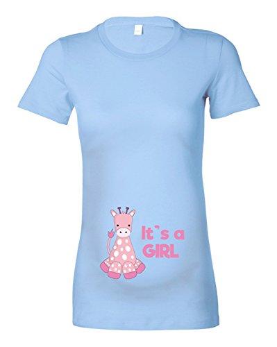 Beyondsome - Camiseta - para mujer Sky Blue / Baby Pink Text