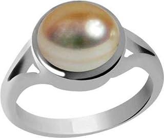 Divya Shakti 6.25–6.50carati perla anello in argento (moti/Mukta argento anello) 100% originale qualità AAA gemma