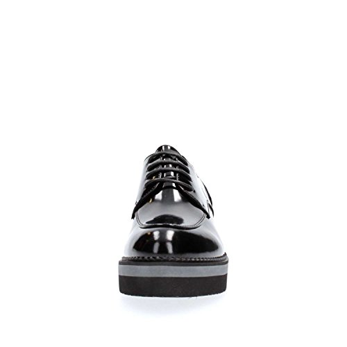 De Cuero Plataforma Noir Negro Caf Nero Zapatos 010 Ef131 Cafè 80wkOZnNPX