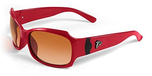 NFL Atlanta Falcons Bombshell Sunglasses with Bag, Red/Black