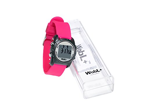 WobL+ Waterproof Vibrating Watch (PINK), 9 Alarms, Potty Reminder, Pill Reminder by WobL Watch (Image #1)