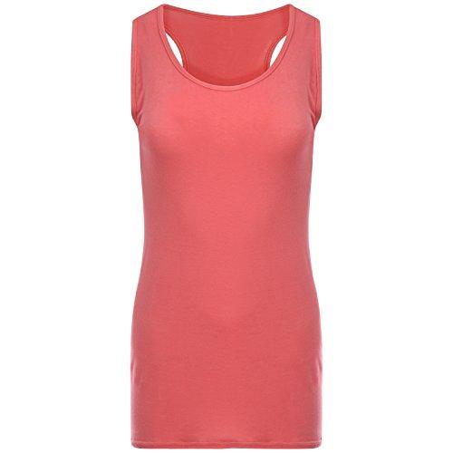 Get The Trend - Camiseta sin mangas - Básico - para mujer Noir - Corail