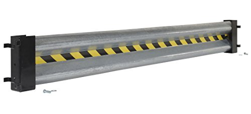 (Vestil GR-D-8 Galvanized Guard Rail with 2 Drop-In Brackets and Hardware, 96