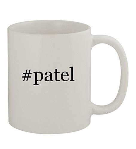 #patel - 11oz Sturdy Hashtag Ceramic Coffee Cup Mug, White