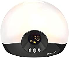 Lumie Bodyclock GO 75 Wake Up Light Alarm Clock with Sounds