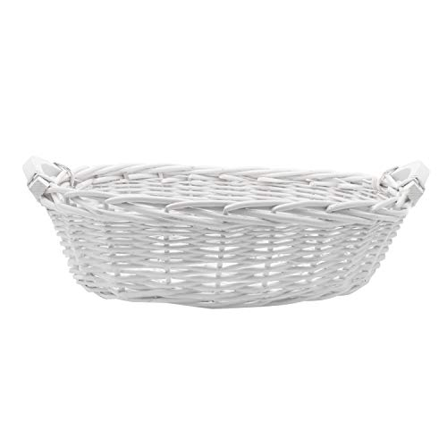 Royal Imports Picnic Gift Basket Braided Willow Handwoven for Fruits, Flowers, Storage or Bread, Oval with Short Handles, 15