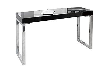 Dunord design fokus bureau pour ordinateur portable noir brillant
