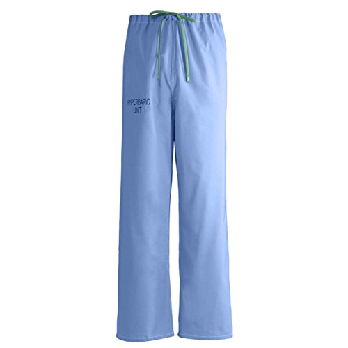 Medline Reversible Hyperbaric Unit Drawstring Pant, MDL-CM, Large, Ceil - Pants Cotton Reversible Scrub