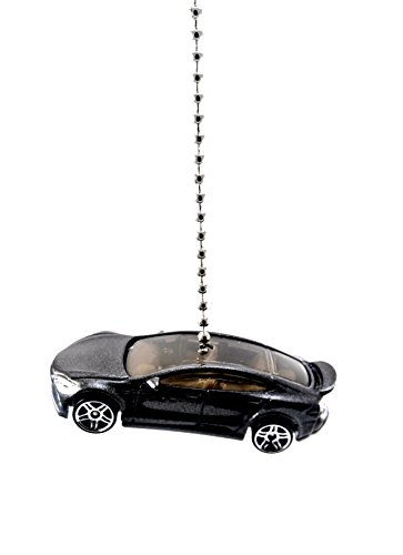TESLA Diecast Cars & Trucks Ceiling Fan Light PULLS, Ornaments, Keychains, Pendants (Tesla Model S Black) by CTR Customs