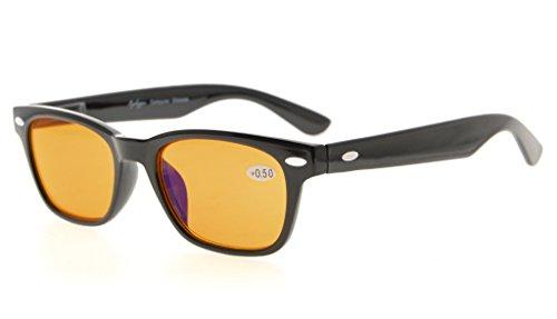 Eyekepper Lunettes de lecture Prevenir la fatigue oculaire lunettes pour les jeux televison blocage lumiere bleue (matte jaune,+1.75) Matte Noir