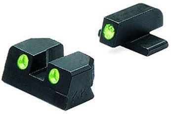 Meprolight Sig Sauer Tru-Dot Night Sight. Adjustable set for pistols with #8 frt. & rear (Meprolight Tru Dot)