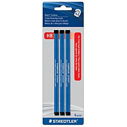 Staedtler(R) Lumograph HB Carbon Drawing Leads, 2 mm, Pack Of 6 by Staedtler